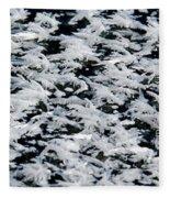 Frost Flakes On Ice - 06 Fleece Blanket