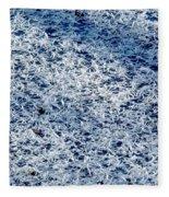 Frost Flakes On Ice - 32 Fleece Blanket