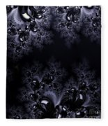 Frost In The Moonlight Fractal Fleece Blanket