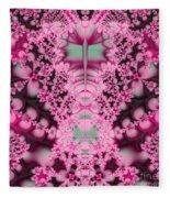 Frost On The Roses Fractal Fleece Blanket