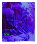 Frost On  Winding Staircases Fleece Blanket