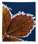 Frosted Leaf Fleece Blanket
