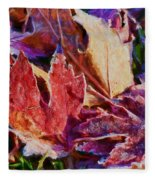 Frosted Leaves #2 - Painted Fleece Blanket