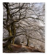 Frosted Path Fleece Blanket