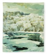 Frosted Trees Fleece Blanket