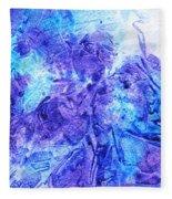 Frosted Window Abstract I   Fleece Blanket