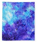 Frosted Window Abstract IIi Fleece Blanket