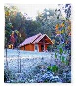 Frosty Cabin Fleece Blanket