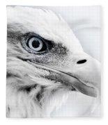 Frosty Eagle Fleece Blanket