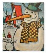 Frosty Family Fleece Blanket