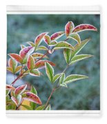 Frosty Leaves Fleece Blanket