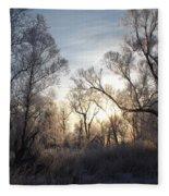 Frosty Morn 3 Fleece Blanket