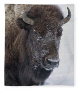 Frosty Morning Bison Fleece Blanket