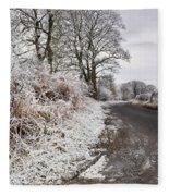 Frosty Road Fleece Blanket
