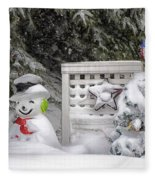 Frosty The Snow Man Fleece Blanket