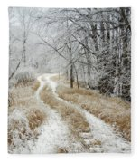 Frosty Trail Fleece Blanket