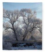 Frosty Trees 4 Fleece Blanket