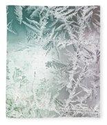 Frosty Windowpane Fleece Blanket