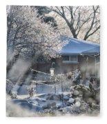 Frosty Winter Window Fleece Blanket