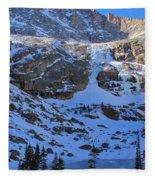 Frozen Black Lake Fleece Blanket