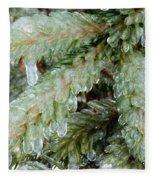 Frozen Boughs Fleece Blanket