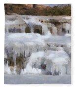 Frozen Falls Fleece Blanket