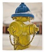Frozen Fire Hydrant Fleece Blanket
