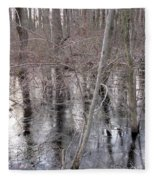 Frozen Forest Floor Fleece Blanket