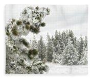 Frozen Forest Fleece Blanket