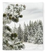 Frozen Forest Fleece Blanket