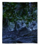 Icicle Garden  Fleece Blanket