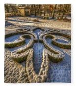 Frozen Garden  Fleece Blanket