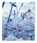 Frozen In Ice Nature Fleece Blanket