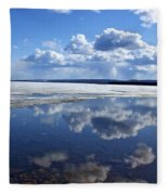 Frozen Lake Fleece Blanket