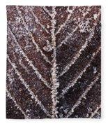 Frozen Leaf Fleece Blanket