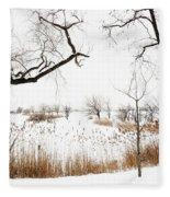 Frozen Marshland IIi Fleece Blanket