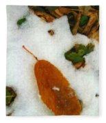 Frozen Nature - Digital Painting Effect Fleece Blanket
