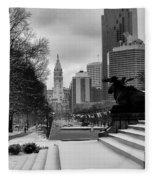 Frozen Philadelphia Fleece Blanket
