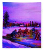 Frozen Pond Fleece Blanket