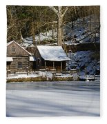 Frozen Pond  Fleece Blanket