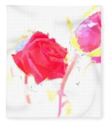 Frozen Rose Fleece Blanket