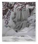 Frozen Waterfall Fleece Blanket