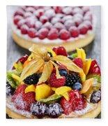 Fruit And Berry Tarts Fleece Blanket