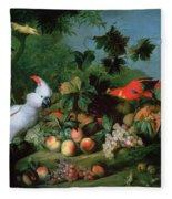 Fruit And Birds Fleece Blanket