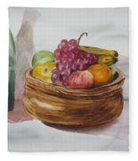 Fruit And Wine Fleece Blanket