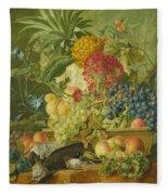Fruit Flowers And Dead Birds Fleece Blanket