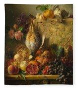 Fruit Flowers And Game Fleece Blanket