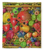 Fruit In Bamboo Box Fleece Blanket