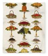 Fruit Lovers Panel 1888 Fleece Blanket