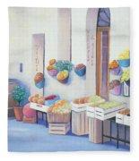 Fruit Market In Tuscany Fleece Blanket